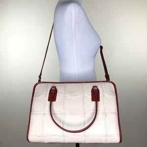 Elvis & Kresse Ivory Red Large Leather Post Bag